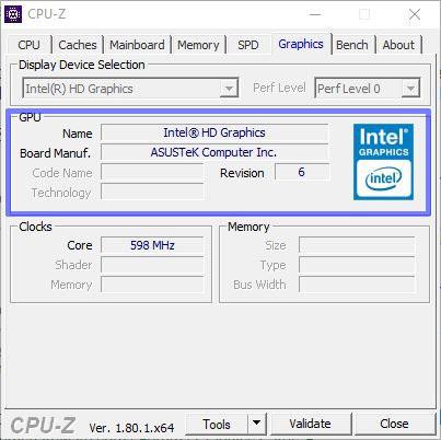 اطلاعات کامل لپ تاپ با نرم افزار cpu-z